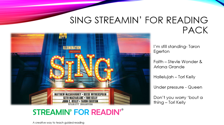 Sing streamin for reading cover